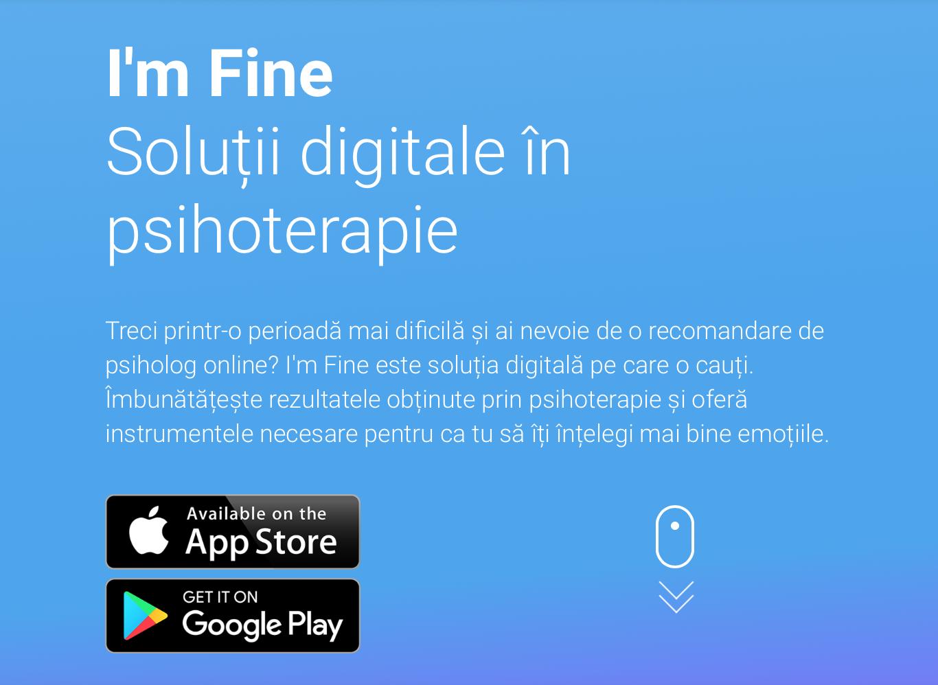'm Fine Soluții digitale în psihoterapie